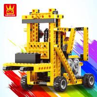 万格乐博士兼容其他积木电动机器人儿童益智玩具小颗粒拼装3-6岁