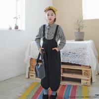 TS4176韩版童装格子长袖上衣中大童套装18年秋新品时尚连体裤