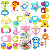 婴儿玩具摇铃奶瓶装新生儿0-1岁宝宝拨浪鼓床铃婴幼儿童牙胶手摇铃3-6-12个月