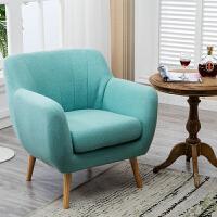 单人沙发北欧现代 阳台卧室迷你简约小沙发懒人休闲布艺沙发椅