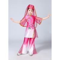 新款儿童演出服新疆舞蹈服装少数民族回族表演服饰男女童维吾尔族