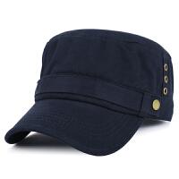 帽子男士秋冬季保暖韩版平顶帽户外遮阳帽全棉军帽鸭舌帽