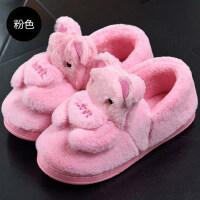 棉拖鞋女包跟韩版卡通可爱居家室内厚底保暖防滑家用