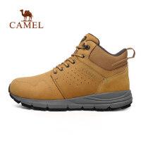 camel骆驼户外工装鞋 秋冬减震防滑磨砂皮男女工装靴