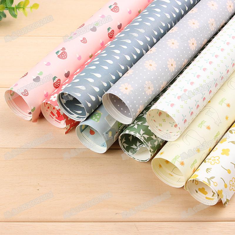 BMDM本木 包装纸礼品纸礼物纸 礼品包装纸 彩色包书皮礼品礼物折纸墙纸 图案* 尺寸 530×775mm 一口价为一张