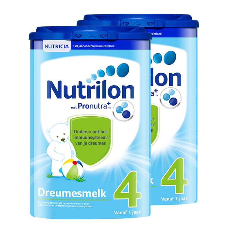 【4段】保税区发货 荷兰牛栏 Nutrilon诺优能 婴幼儿奶粉 四段(1岁以上) 800g*2罐 海外购 新老包装随 机发货