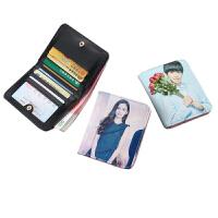 小钱包女短款韩版学生两折零钱包迷你折叠卡包简约女士搭扣多功能