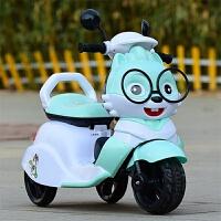 儿童电动摩托车三轮车小孩玩具男女宝宝可坐人充电大号遥控电瓶车