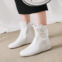 韩版中大童女童靴子童鞋春秋单靴亲子马丁靴公主儿童短靴