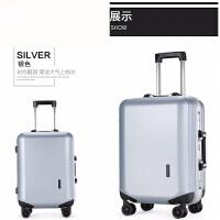 铝框拉杆箱万向轮pc旅行箱男女学生密码行李登机箱皮箱子20寸24寸 银色(收藏关注 *品) 20寸
