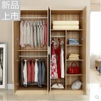 简易板式衣柜实木质组合整体衣柜2门3门4门衣柜衣橱全国定制