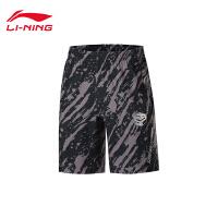 李宁运动短裤男士运动时尚系列休闲夏季男装梭织运动裤AKSP537