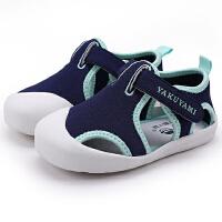 男宝宝凉鞋布鞋夏季婴儿学步凉鞋软底1-2-3岁女宝宝沙滩鞋子