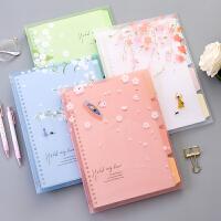 B5活页夹笔记本 可拆卸简约加厚线圈本子外壳 工作大号记事本文具
