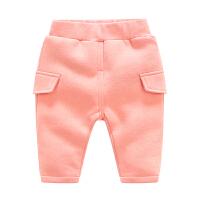 婴儿装裤子童加绒加厚打底裤1岁3个月宝宝新生儿长裤冬装