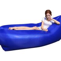 户外充气沙发睡袋便携空气沙发床冲气沙滩午休懒人口袋游泳池抖音 轻便 深蓝