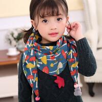 韩版潮秋冬宝宝男童女童围脖冬季小孩女孩儿童三角巾围巾