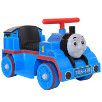 儿童托马斯电动小火车头可坐人宝宝玩具车四轮童车男小孩充电汽车 蓝色大电瓶单驱动+早教+礼包 带防滑带