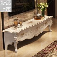 欧式大理石电视柜 法式客厅电视柜白色烤漆小户型电视柜茶几组合定制定制 整装