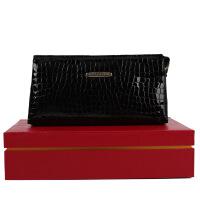 金利来goldlion女士钱包 潮流时尚女长款牛皮手包拉链钱包手抓包礼盒GA51605001-611黑色