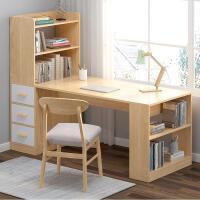 【满减优惠】简约转角书桌小户型书架组合家用电脑桌书柜一体多功能卧室写字桌
