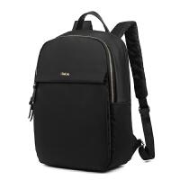双肩包女牛津布学生书包旅游背包时尚商务14寸电脑包韩版 黑色