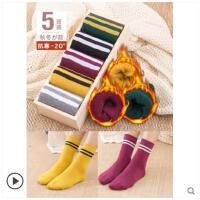 袜子女冬季加绒加厚保暖韩版学院风韩国长袜子毛圈纯棉长高筒棉袜