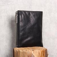 零钱包 AA级胎牛皮 钱包 皮包设计 黑色