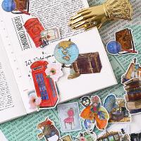 手帐贴纸原创手账素材半透明手机diy相册装饰工具复古年代.旧时光