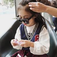 女童背心马甲春秋2018新款韩版儿童毛线针织衫 宝宝上衣针织背心