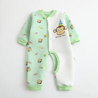 婴儿连体衣服棉衣6宝宝新生儿哈衣01岁3个月春季冬装睡衣