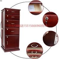办公家具文件柜木质落地柜书房资料柜带锁五斗柜立式边角储物柜子 白色 PCH-40 15mm