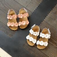 儿童宝宝凉鞋女童凉鞋儿童可爱花朵凉鞋宝宝软底学步鞋