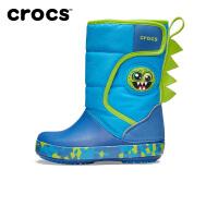 【秒杀价】Crocs卡骆驰童靴 趣味学院小怪兽酷闪防水棉靴|205304 卡骆驰趣味学院小怪兽酷闪童靴