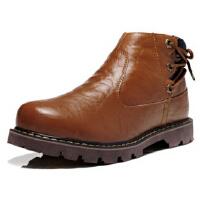 豪登奴秋冬男靴独特个性英伦风格时尚马丁男鞋加绒保暖高帮雪地靴