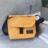 文艺男女店男士包袋潮流帆布包斜跨包单肩包新款手提包小方包