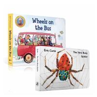 英文原版绘本 The Very Busy Spider忙碌的蜘蛛 Wheels on the Bus 公车上的轮子 廖