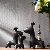 鹿摆件家居酒柜装饰品客厅电视玄关乔迁新居创意工艺品陶瓷鹿摆设