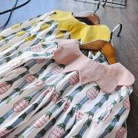 韩国童装2018春季新款女童连衣裙韩版儿童纯棉长袖公主裙娃娃领裙