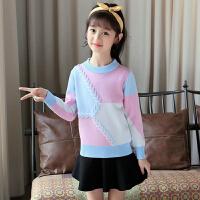 童装儿童毛衣女秋装中大童女童针织衫洋气毛线衣韩版上衣