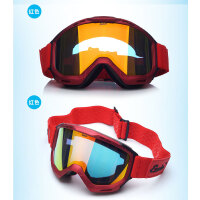户外运动儿童雪眼镜 青少年款 男女双层防雾雪镜 可罩近视镜