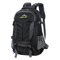 新款男士大容量双肩包登山旅行背包韩版潮女士电脑包旅游双肩背包SN9763 黑色