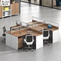 简约现代办公家具职员桌人位屏风隔断工位职员卡座桌椅组合