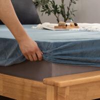 水晶绒床笠席梦思床罩保护套防尘床垫罩单件床套双人单人防滑床单
