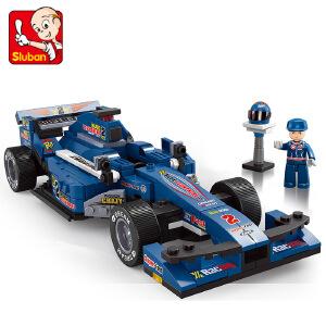 【当当自营】小鲁班F1方程式赛车系列儿童益智拼装积木玩具  1:24蓝光F1赛车M38-B0353