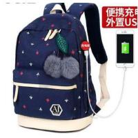 双肩包女韩版新款休闲小清新牛津布时尚潮流书包旅行背包