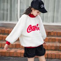 女童冬装上衣韩版休闲儿童中大童12-15岁洋气加绒潮