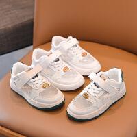 女童运动鞋夏季透气单网面男童板鞋儿童大童小白鞋