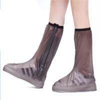 户外防雨鞋套高筒拉链款加厚耐磨鞋底防滑