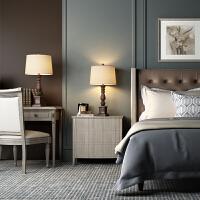 美式台灯卧室床头灯乡村复古怀旧欧式床头柜灯创意客厅浪漫